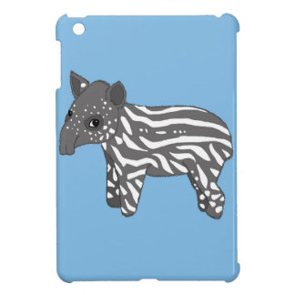 blue baby tapir iPad mini cover