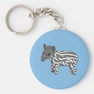 blue baby tapir keychain