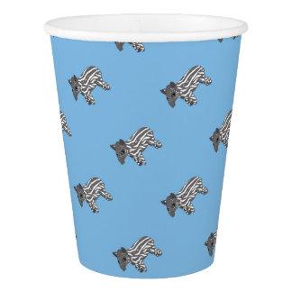 blue baby tapir paper cup