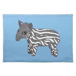 blue baby tapir placemat