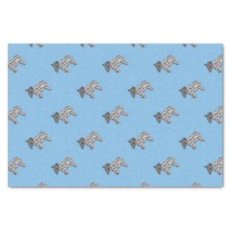 blue baby tapir tissue paper