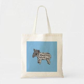 blue baby tapir tote bag