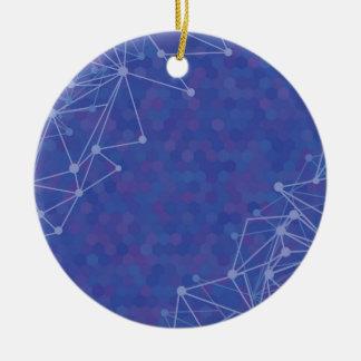 blue  background ceramic ornament