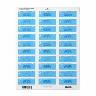 Blue Background & Diamonds Return Address Labels