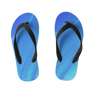 Blue Background... Kid's Flip Flops
