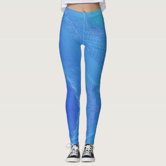Blue Background... Leggings