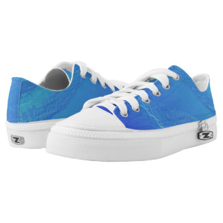 Blue Background... Low-Top Sneakers