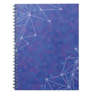 blue  background notebook