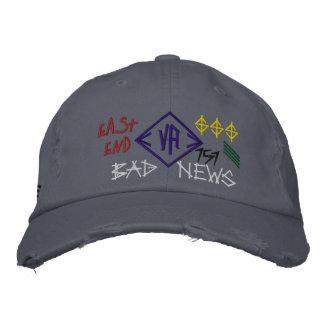 "Blue ""Bad News"" Low Profile Cap Hat"
