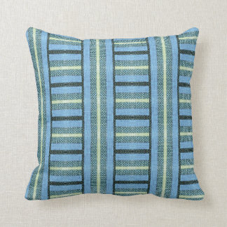 Blue Baja Sweater Burlap Throw Pillow