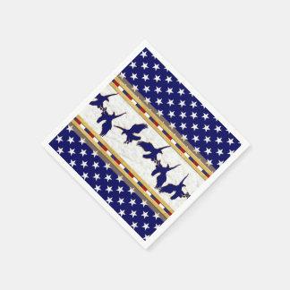 Blue Bald Eagle USA Paper Napkin