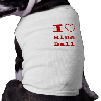 BLUE BALL I heart (love) Pet Clothing