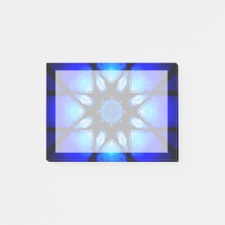 Blue Ball Illusion Mandala Post-it Notes