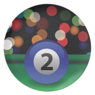 blue ball plate