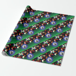 blue ball wrapping paper