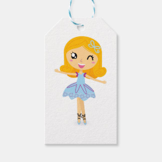 BLUE BALLERINA HANDDRAWN ART EDITION PACK OF GIFT TAGS