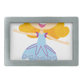 Blue ballerina Princess cute T-Shirts Rectangular Belt Buckle