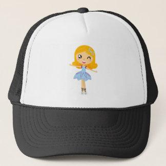 Blue ballerina Princess cute T-Shirts Trucker Hat