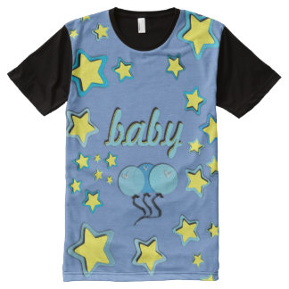 Blue Balloons All over/ABDL tee/Baby 4 Life