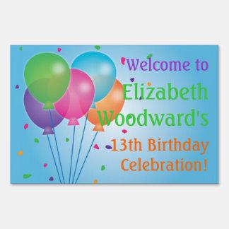 Blue Balloons Birthday Yard Sign (Large)