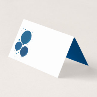 Blue Balloons | Place cards
