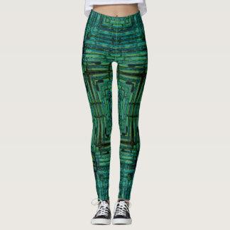 Blue Bamboo Geometric Leggings