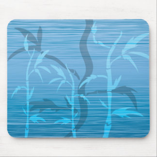 Blue Bamboo Mouse Pad