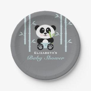 Blue Bamboo Panda Baby Shower Paper Plate  sc 1 st  Zazzle CA & Panda Plates | Zazzle.ca