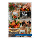 Blue band 6 multi photo collage memories keepsake poster