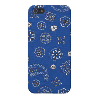 Blue Bandana iPhone Case iPhone 5/5S Cover