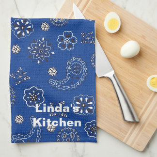 Blue Bandana Kitchen Towel