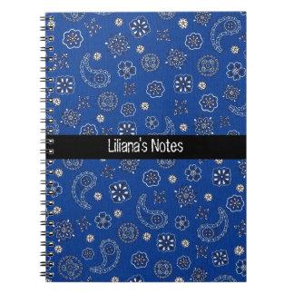 Blue Bandana Notebook