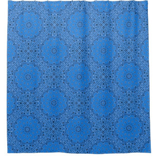 Blue Bandana Paisley Boho Hippie Glam Country