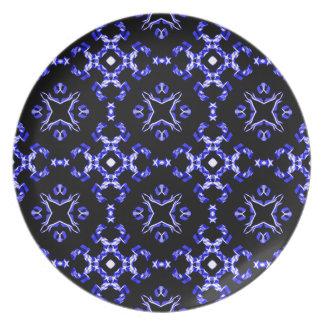 Blue Bandana Pattern Plate