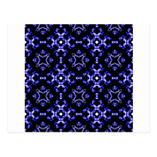 Blue Bandana Pattern Postcard