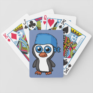 Blue Bandana Penguin playing cards