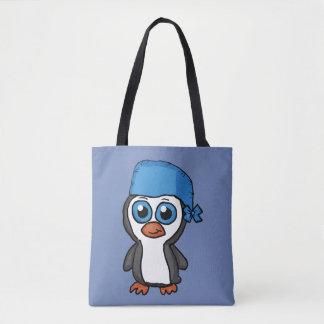 Blue Bandana Penguin Tote Bag