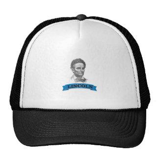 blue banner lincoln trucker hat