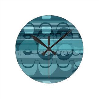 Blue banner round clock