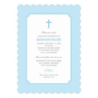 Blue Baptism Invitation | Baby Boy