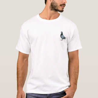 Blue bar racing pigeon add text T-Shirt