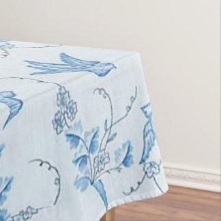 Blue Barn Swallow Bird Cotton Tablecloth