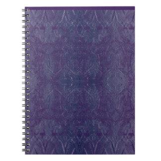 blue baroque spiral notebook