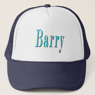 Blue Barry Name  Logo, Trucker Hat