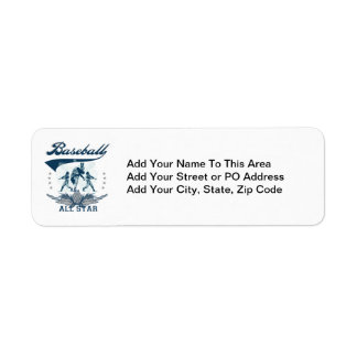 Blue Baseball All Star T-shirts and Gifts Return Address Label