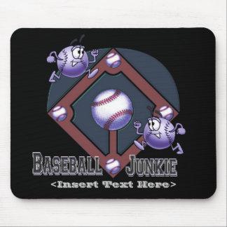 Blue Baseball Cartoon Mouse Pad