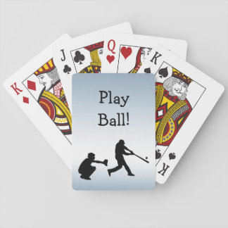 Blue Baseball Play Ball Playing Cards