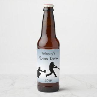 Blue Baseball Sports Beer Label