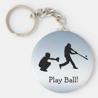 Blue Baseball Sports Keychain