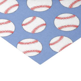 Blue baseball sports pattern tissue paper